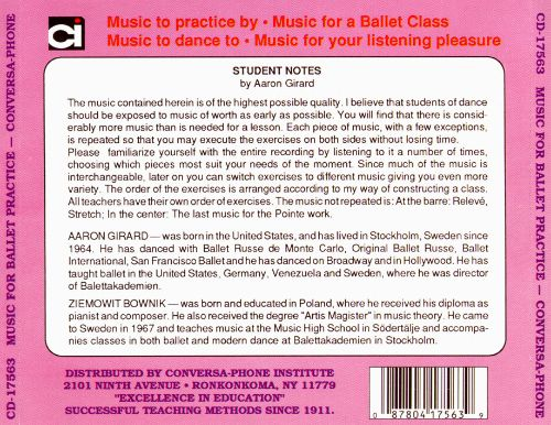 Music for Ballet Practice