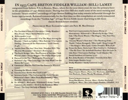 Full Circle: From Cape Breton to Boston and Back-Classic House Sessions of Traditional Cape Breton Music, 1956-1977