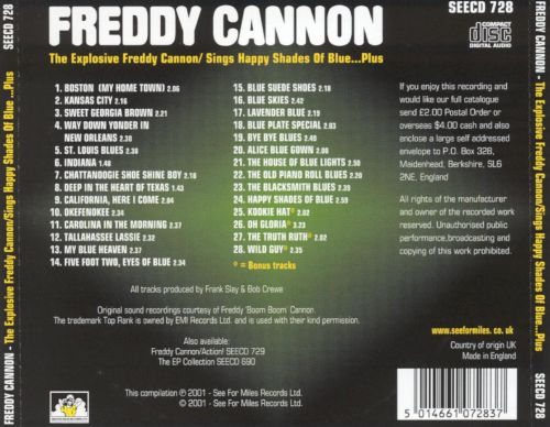 The Explosive Freddy Cannon!/Sings Happy Shades of Blue