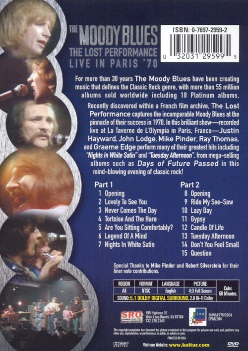 The Lost Performance: Live In Paris '70 [DVD]