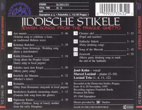 Jewish Songs from the Prague Ghetto