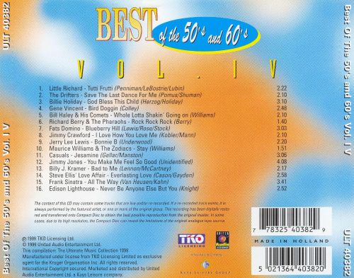 Best of the 50's and 60's, Vol. 4 [United Audio]