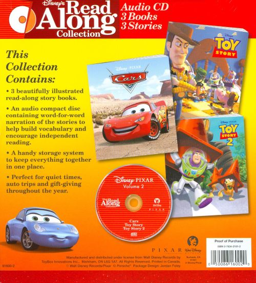 Pixar, Vol. 2: Cars/Toy Story/Toy Story 2 [Read-Along]