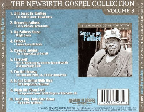 Newbirth Gospel Collection, Vol. 3: Songs for My Father