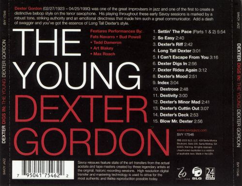 Dexter Digs In: The Young Dexter Gordon