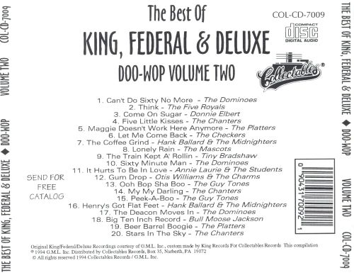 The Best of King Federal & Deluxe Doo Wop, Vol. 2