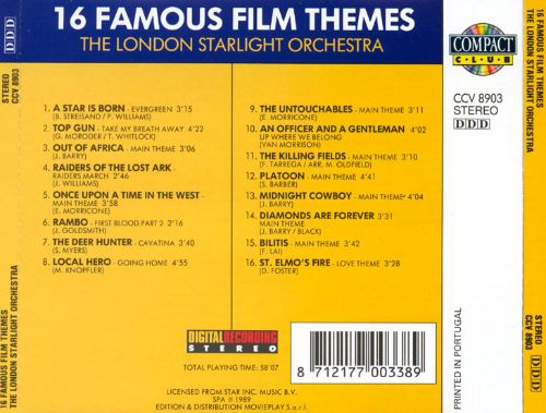 16 Famous Film Themes