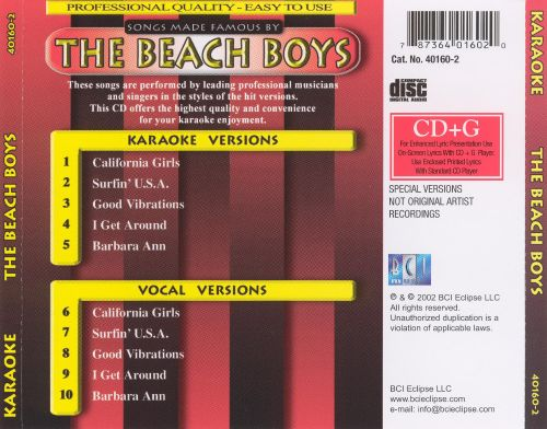 The Songs Made Famous By The Beach Boys