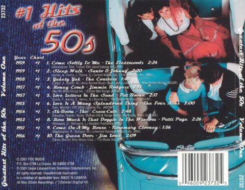 #1 Hits of the 50's, Vol. 1
