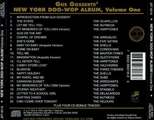 New York Doo-Wop Album, Vol. 1