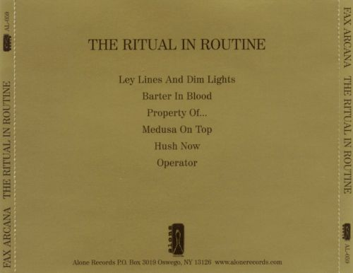 The Ritual In Routine