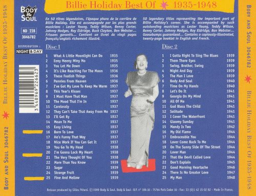Best of Billie Holiday: 1935-1948