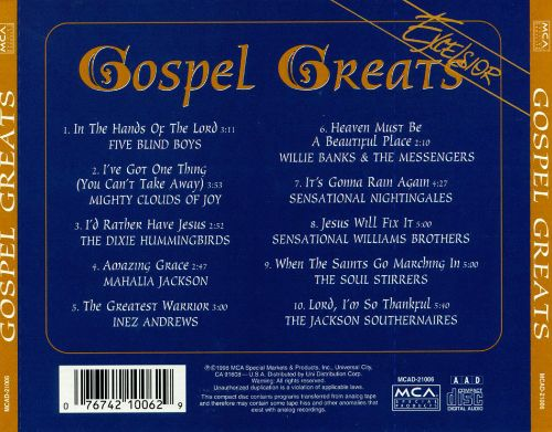 Gospel Greats [MCA Special Products]