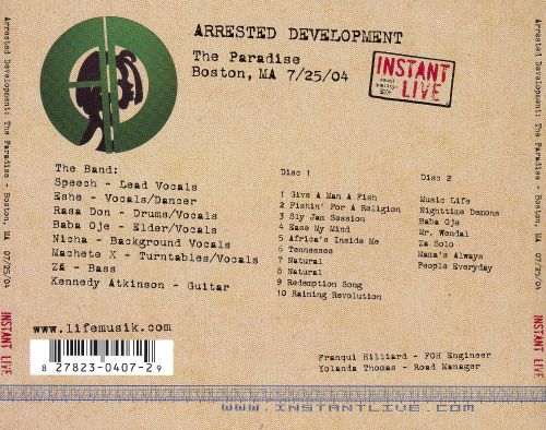 Instant Live: Paradise Rock Club - Boston, MA, 7/25/04