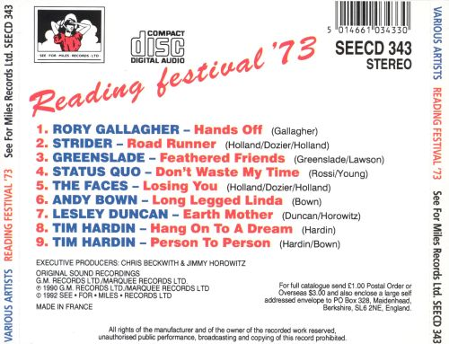 Live at the Reading Festival '73
