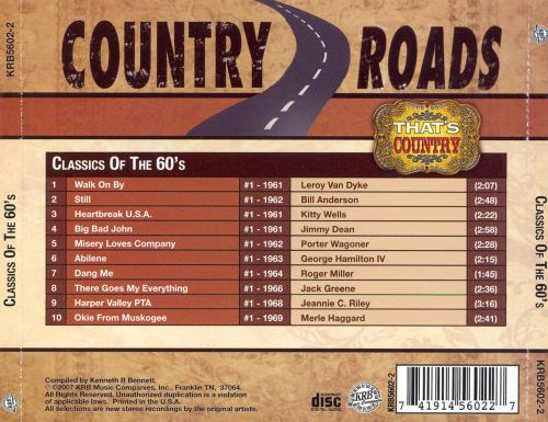 Classics of the 60's: Country Roads