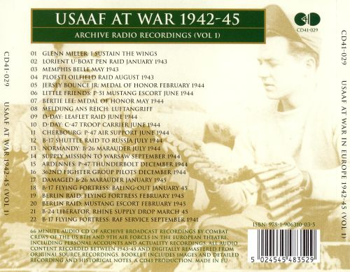 Usaaf at War 1942-45, Vol. 1
