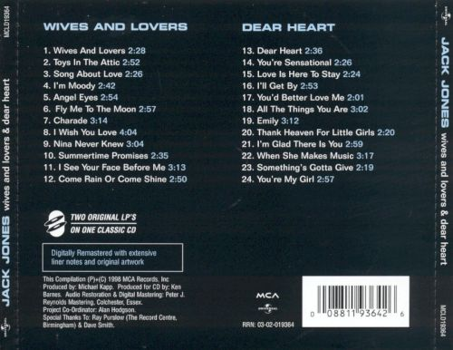 Wives and Lovers/Dear Heart & Other Great Songs of Love