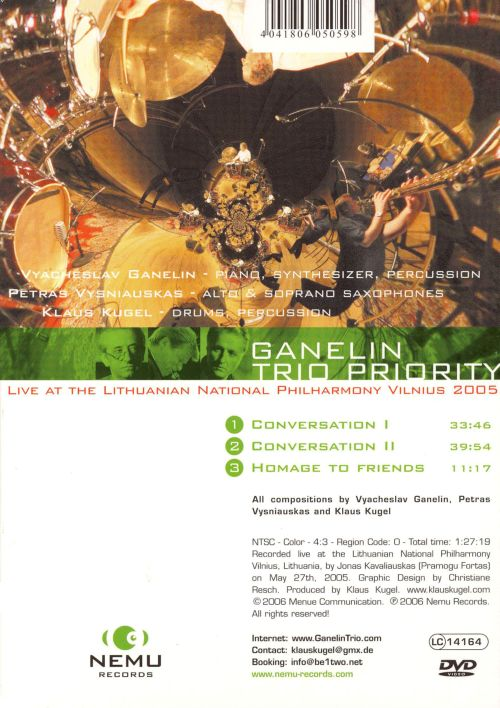 Priority: Live at the Lithuanian National Philharmony Vilnius 2005 [CD]