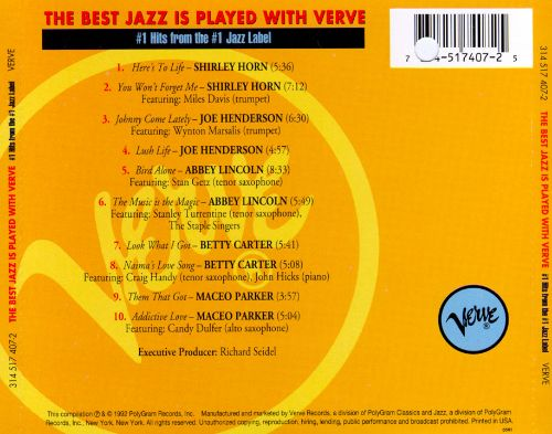 The Best Jazz Is Played with Verve
