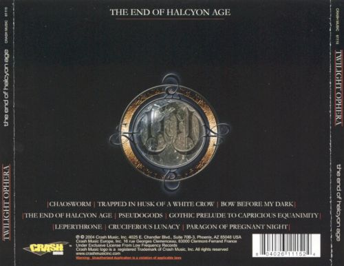 The End of the Halcyon Age