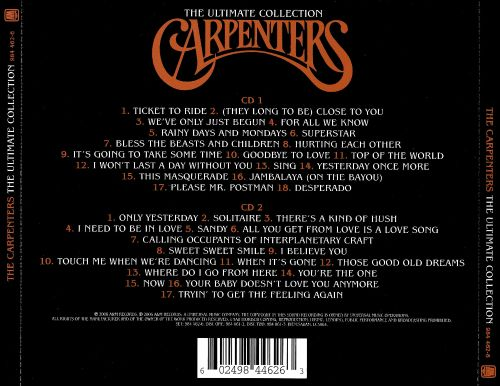 Carpenters Ultimate Collection: The The Ultimate Collection [2 CD] - Carpenters