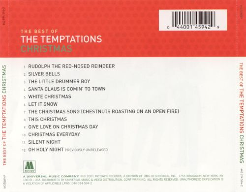Best of Temptations Christmas - The Temptations | Songs, Reviews ...