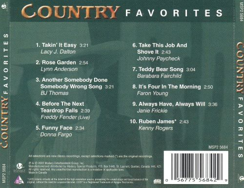 Country Favorites: 10 Country Hits