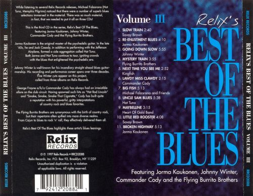 Relix Records Best of Blues, Vol. 3