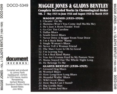 Complete Recorded Works, Vol. 2 (May 1925- June 1926)/Gladys Bentley (1928-1929)