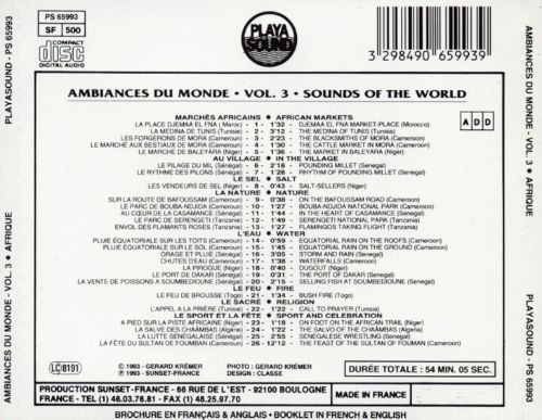 Sounds of the World, Vol. 3: Africa