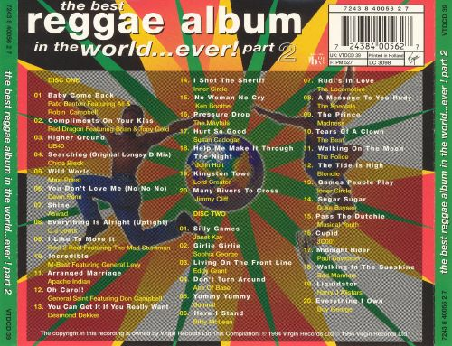 Best Reggae Album in the World...Ever!, Pt. 2 [Virgin #1]
