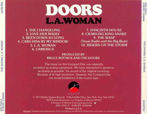 l a woman the doors songs reviews credits allmusic. Black Bedroom Furniture Sets. Home Design Ideas