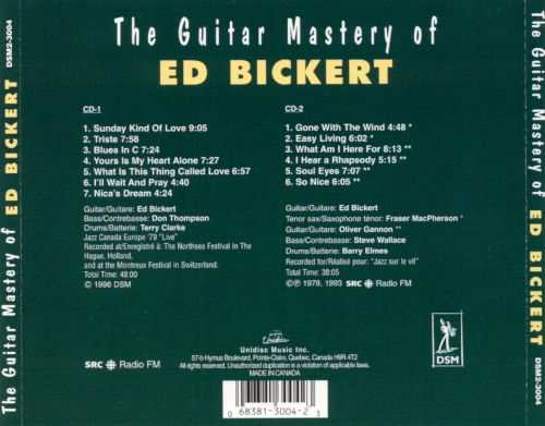 The Guitar Mastery of Ed Bickert