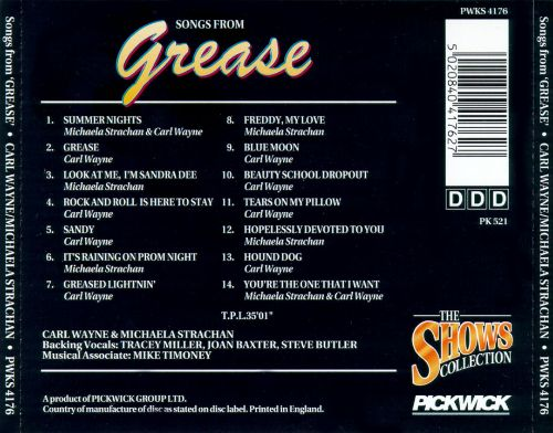Songs from Grease [Pickwick]