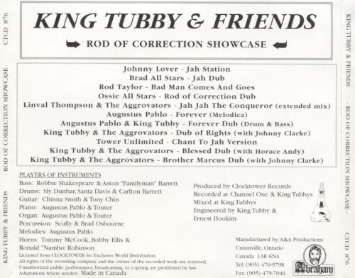 King Tubby & Friends: The Rod of Correction Showcase