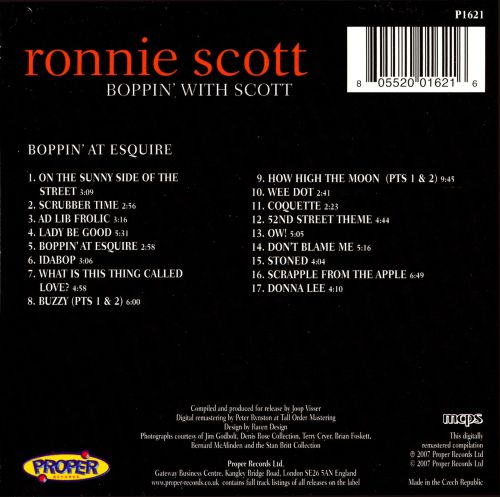 Boppin' with Scott: Boppin' at Esquire