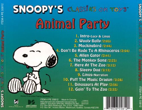 Snoopy's Classiks on Toys: Animal Party