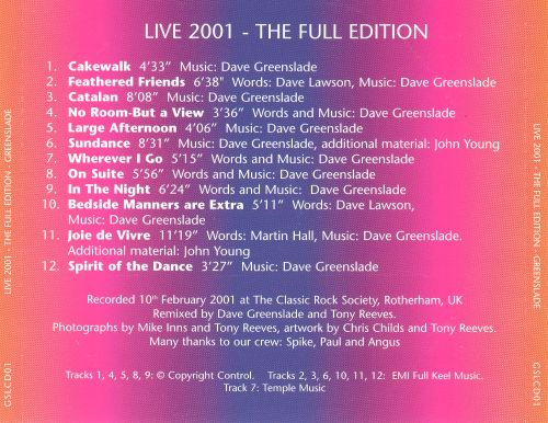 Live 2001 -- The Full Edition