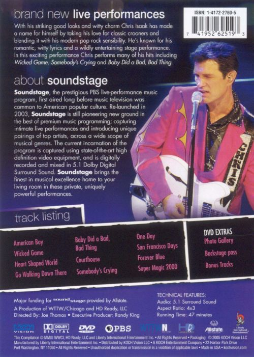 Soundstage: Chris Isaak and Raul Malo Live in Concert [DVD]