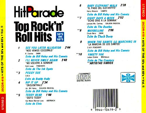 Hit Parade Top Rock 'n' roll Hits: 50's and 60's, Vol. 2