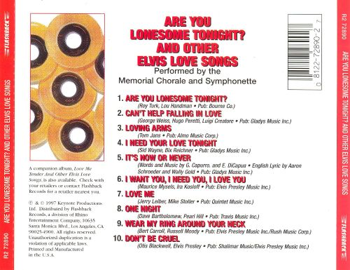 Are You Lonesome Tonight & Other Elvis Love Songs
