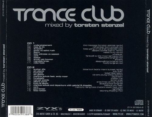 Trance Club Mixed by Torsten Stenzel
