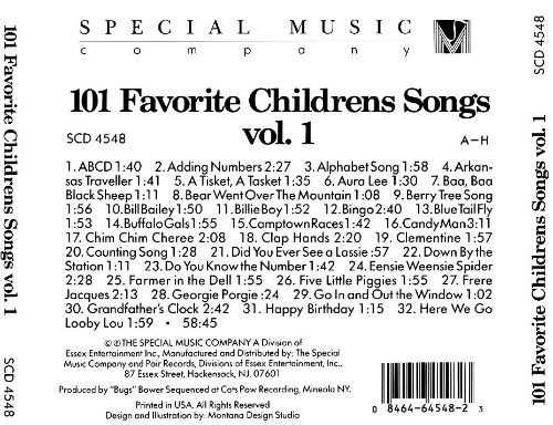 101 Favorite Childrens Songs, Vol. 1: A-H