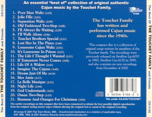 The Best Recordings of the Touchet Family & Friends