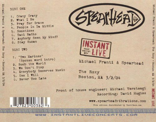 Instant Live: The Roxy - Boston, MA, 3/02/04