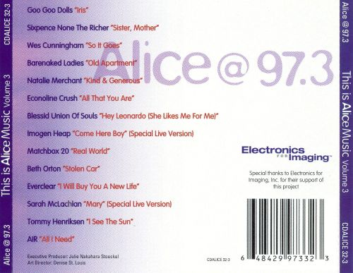 Alice @ 97.3: This Is Alice Music, Vol. 3