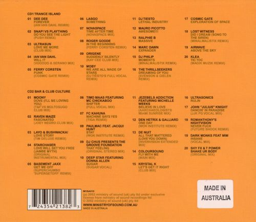 Clubbers guide to ibiza 2002 2 x cds house & trance classics.