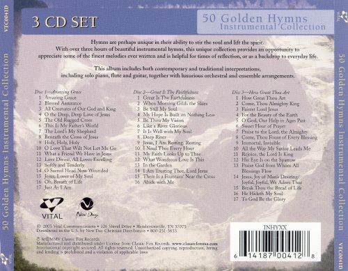 50 Golden Hymns Instrumental Collection