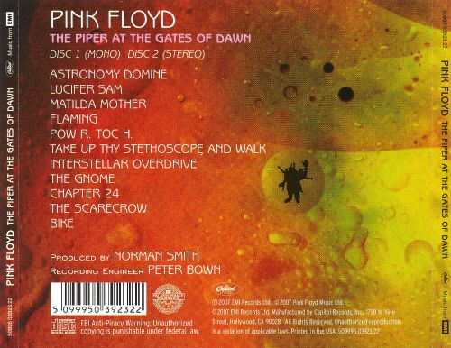 the piper at the gates of dawn 40th anniversary 2 cd edition pink floyd release info. Black Bedroom Furniture Sets. Home Design Ideas